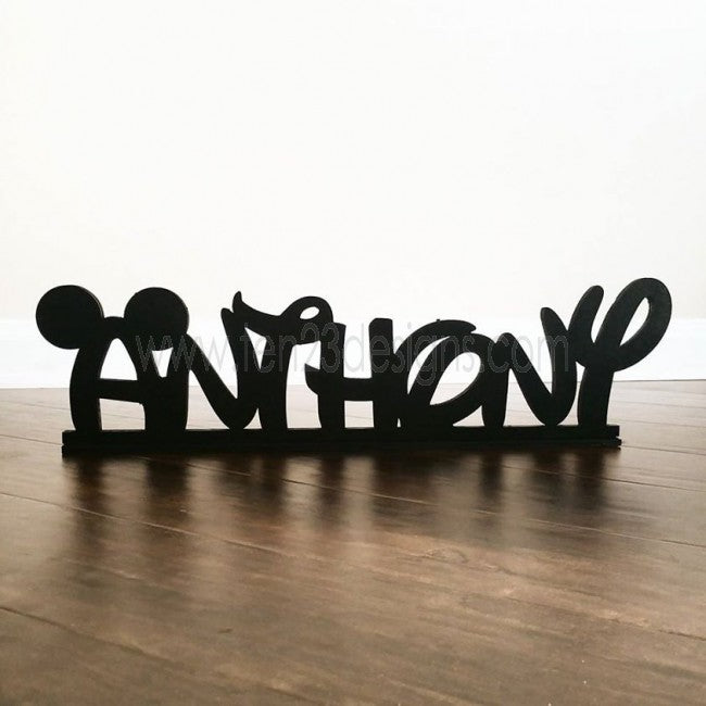 Disney Inspired Personalized Free Standing Wooden Name