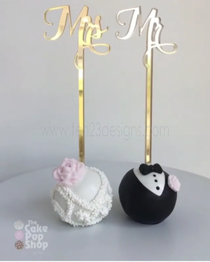 Mr Mrs Cake Pop Sticks