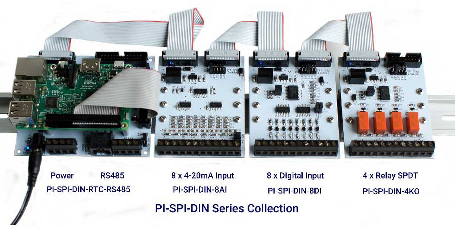 Raspberry Pi DIN Rail I/O Interfaces