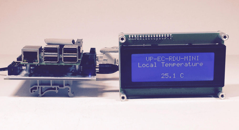 Modbus LCD Display with Internal Temperature Sensor for Automation Applications