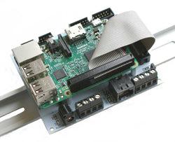 Raspberry Pi DIN Rail Mount Interface with RS485 and Real Time Clock