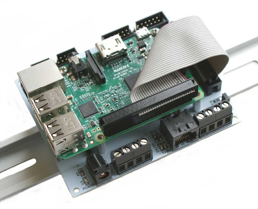 Pi-SPi-DIN-RTC-RS485 Raspberry Pi Interface