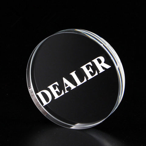 New Texas Holdem Crystal DEALER Poker Chips Poker Table Special Crystal Chip Matching Accessories Transparent DEALER