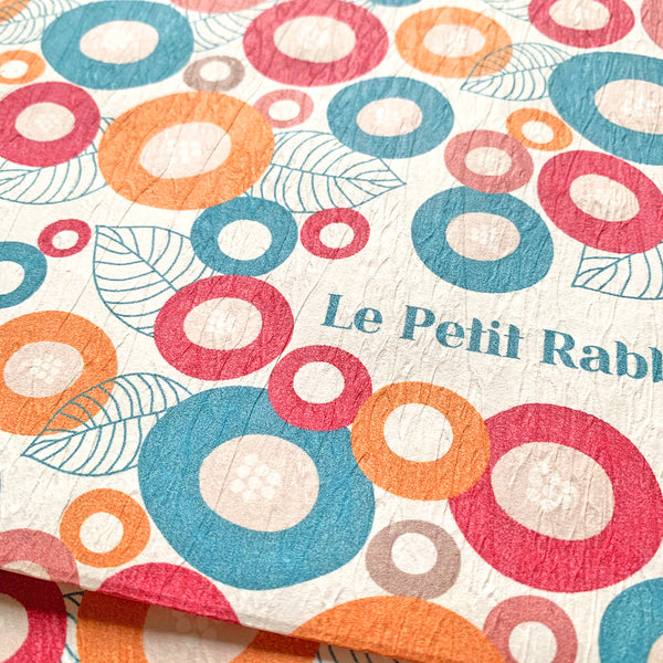 Pochette in carta con zip e pattern Le Petit Rabbit