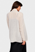 White & Warren Cashmere Cable Knit Cardigan