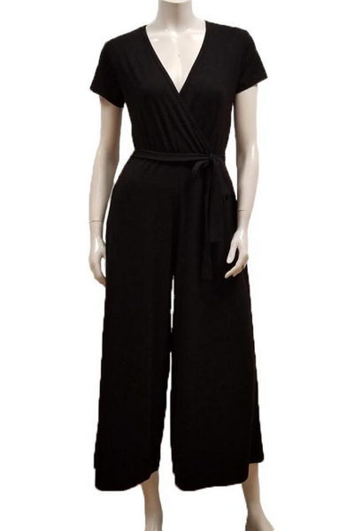 Gilmour Clothing Cap Sleeve Crossover Jumpsuit