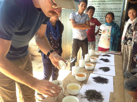 Black tea tasting at Tinjure Nepal, Golden Black