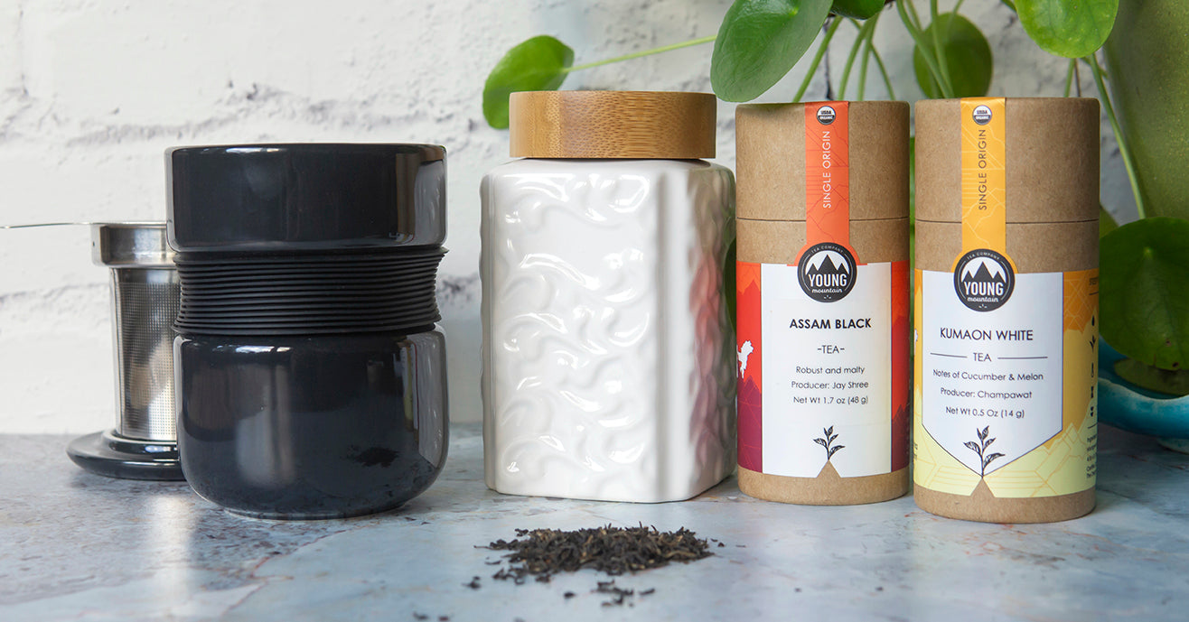 The Home Brewer: Mug With In-cup Infuser, Tea, and Leaf Storage