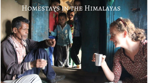 Homestays in the Himalayas.  Ingrid and Indian tea farmer discuss the future of Himalayan tea over a cup of tea.  Trip to origin, learn about Indian culture, and the growth and production of camellia sinensis.