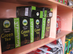 Korakundah packaged tea on the shelves for sale