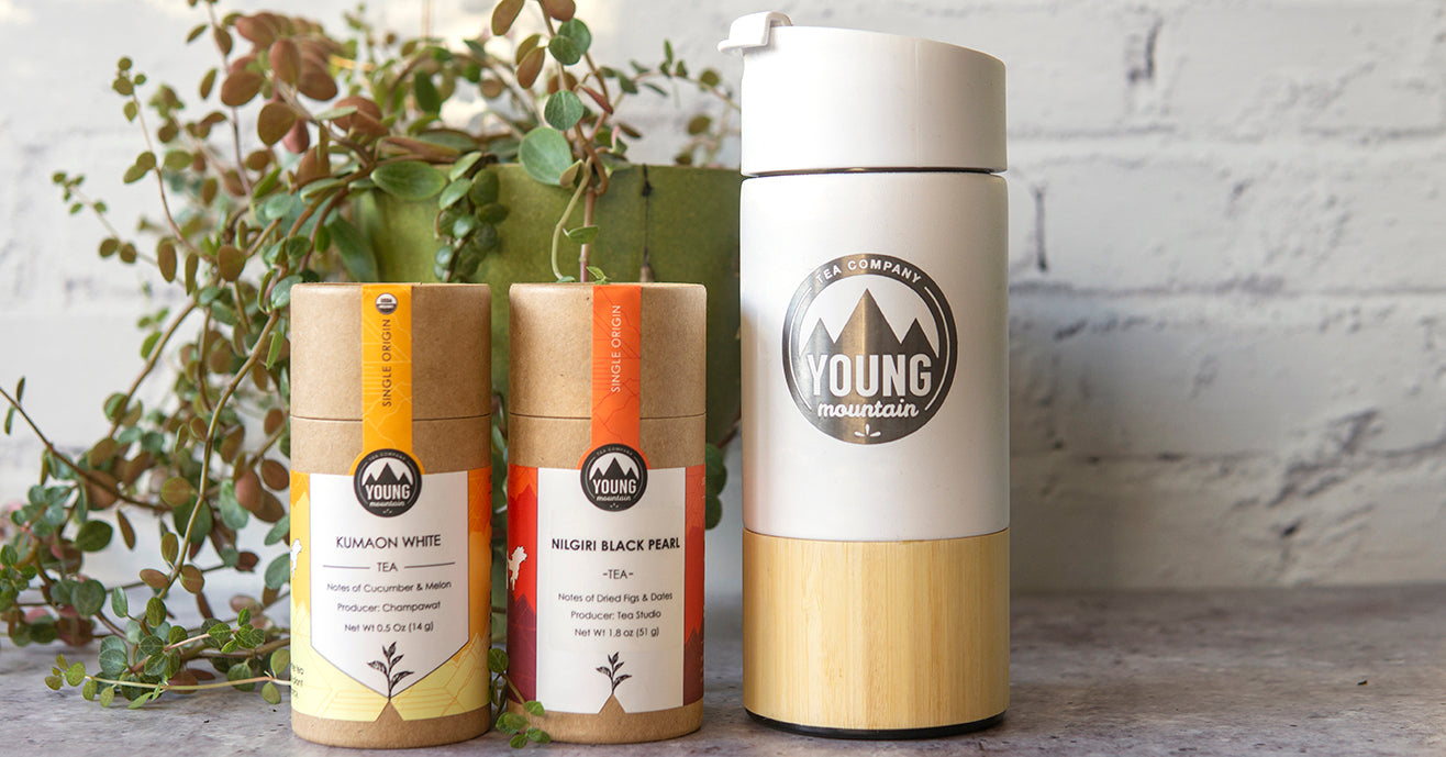 Tea on the Go: Vacuum-insulated Tea Tumbler & Two Teas