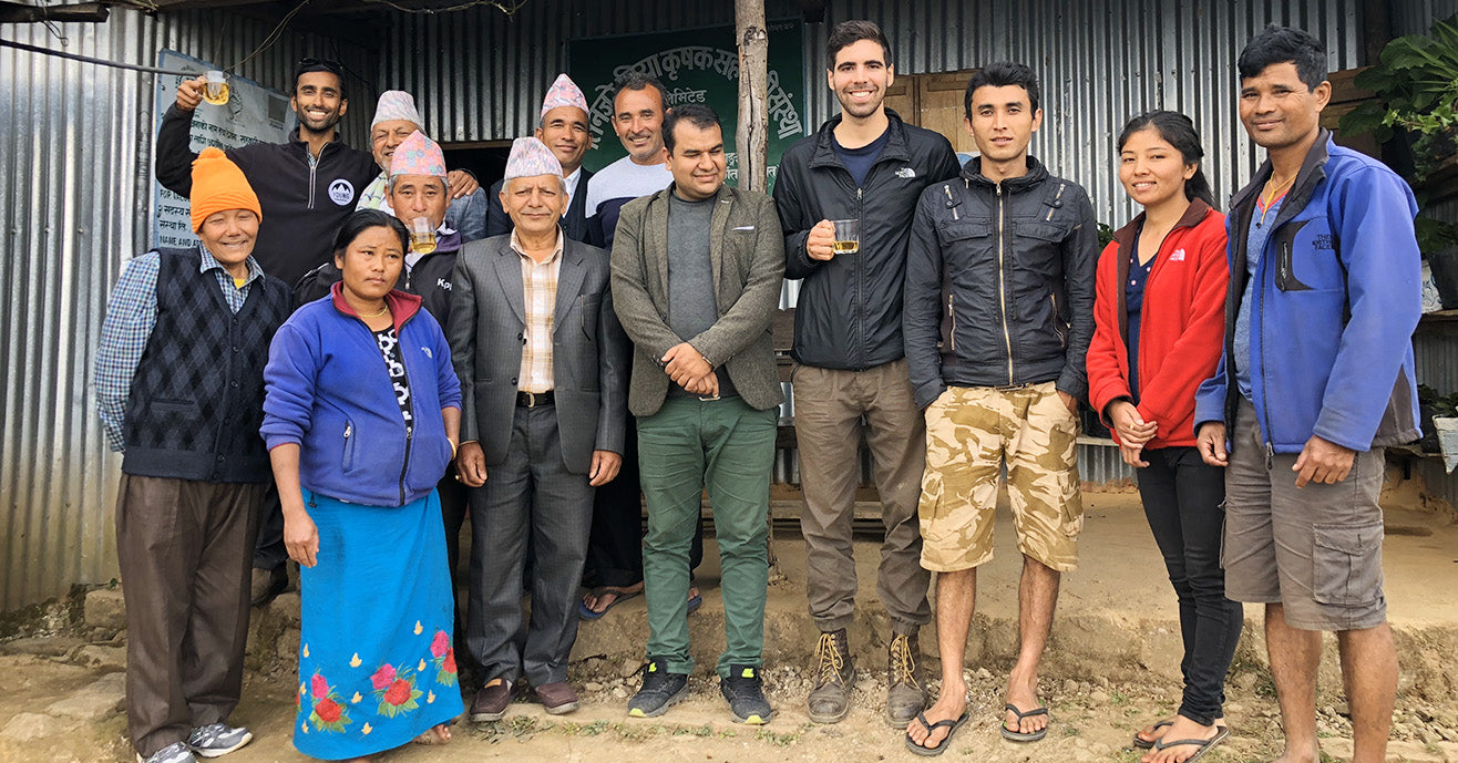 Group photo at Tinjure Cooperative, Nepal