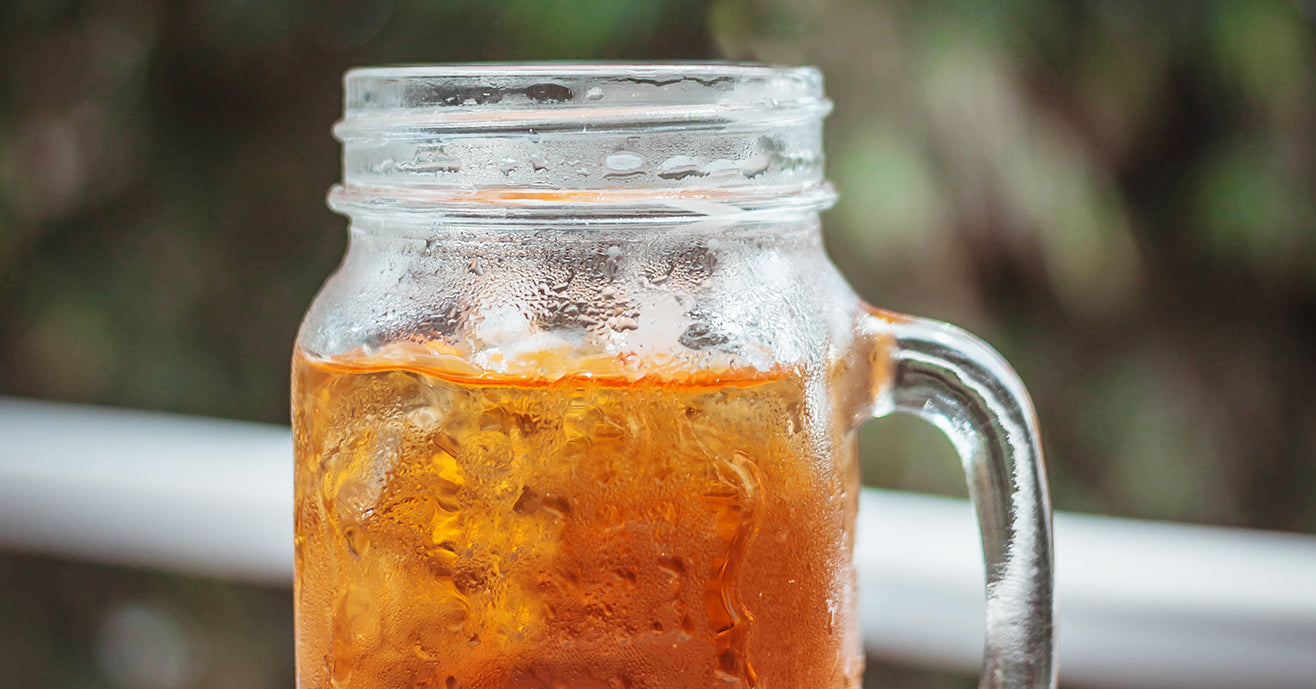 Iced Tea in a frosted mason jar