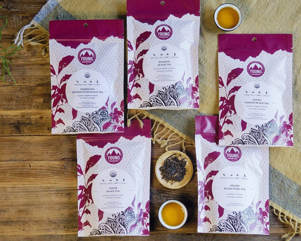 Black Tea Bundle of 5, medium, Young Mountain Tea