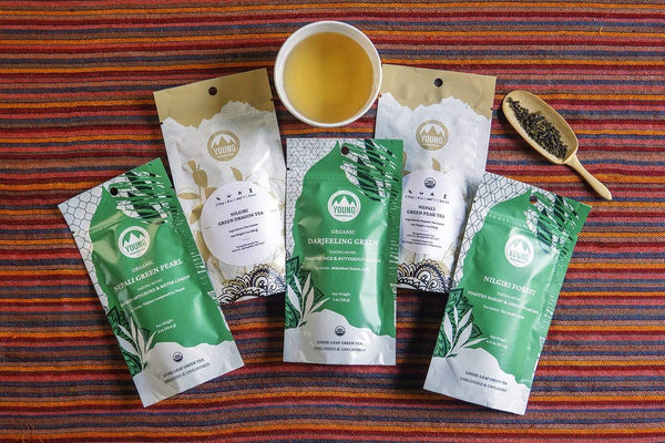 Young Mountain Tea Tea Green Tea Bundle of 5