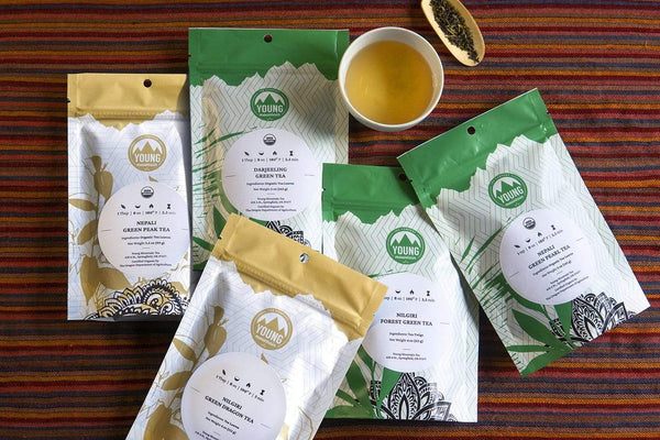 Young Mountain Tea Tea Medium Green Tea Bundle of 5