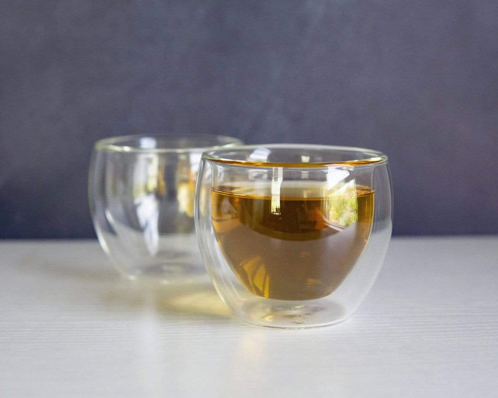 Young Mountain Tea Gifts Pair of Glass Cups (5 oz)