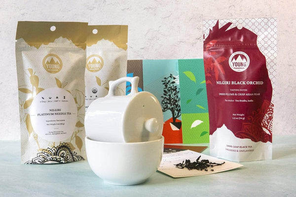 Young Mountain Tea Gifts The Precision Set: Professional Cupping Set & Three Reserve-Line Teas