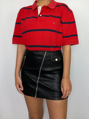 Red Striped Tommy Hilfiger Polo
