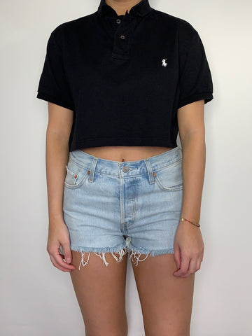 Cropped Black Ralph Lauren Polo
