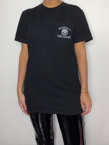 Black Skull Pocket Tee