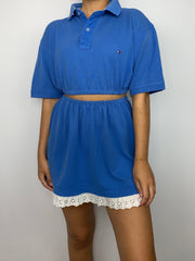 Tommy Hilfiger Baby Blue Lace Co-Ord