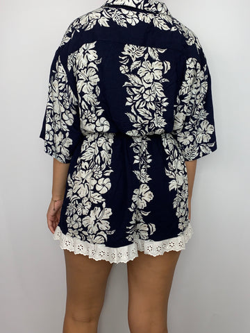 Hawaii White Flowers Co-Ord