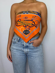 Orange Stars Bandana Top
