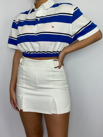 Dark Blue Striped Tommy Hilfiger Polo