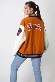 Bearden Longhorn Leather Varsity Jacket