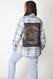 American Iron Harley Reworked Flannel