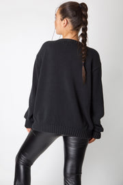 Black Ralph Lauren Heavy Knit Jumper