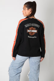 Harley Retro 3D Embroidered Longsleeve