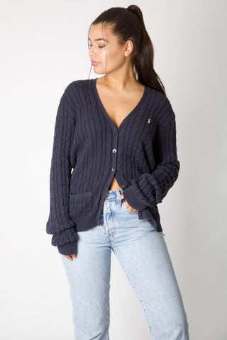 Navy Cable Knit Ralph Lauren Cardigan