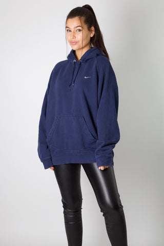 Nike Navy Embroidered Swoosh Hoodie