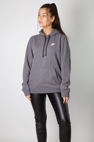 Nike Dark Grey Embroidered Logo Hoodie