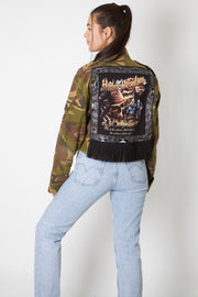 Treasure Skull Harley Reworked Camo Jacket