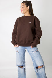 Brown Champion Logo Crewneck