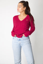 Pink Ralph Lauren Cable Knit Jumper