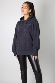 Nike Black Embroidered Swoosh Hoodie