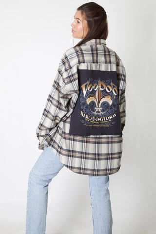 Voodoo Harley Reworked Flannel