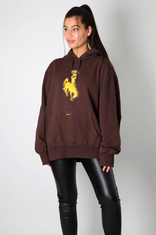 Nike Wyoming Cowboy Embroidered Hoodie