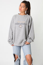 Harley Fleece Embroidered Spellout Sweater