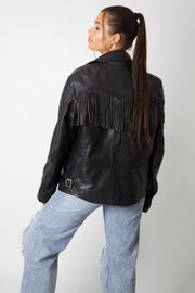 Harley Davidson Leather Fringe Jacket