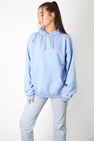 Champion Baby Blue Logo Hoodie