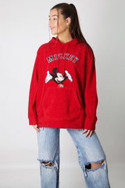 Mickey Embroidered Fleece Hoodie