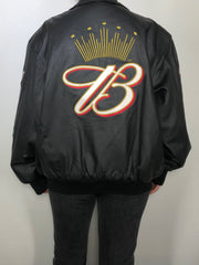 Genuine Leather Budweiser NASCAR Bomber Jacket