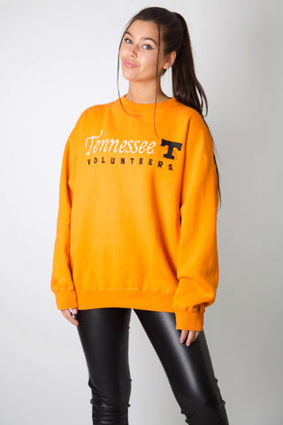 Tennessee Volunteers Embroidery Crewneck