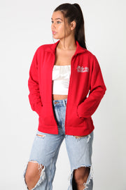 Harley Red Snow Zip Up Sweater