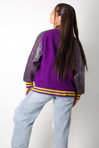 Purple D Varsity Jacket